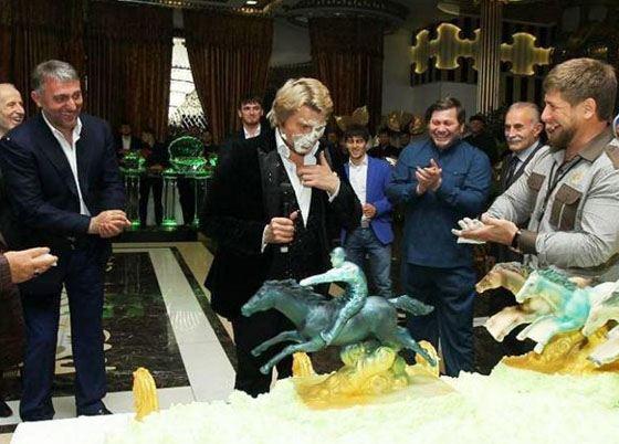 Николай Басков получил тортом в лицо