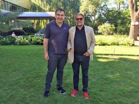 Борис Гребенщиков и Михаил Саакашвили