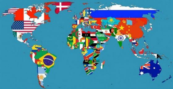 Самые большие страны выглядят на карте так