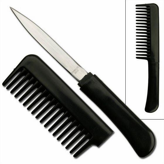 Необычные ножи «прячутся» в губные помады и даже расчески