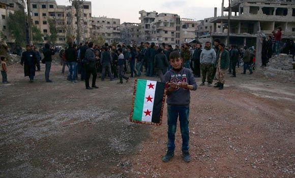 Сирийская оппозиция согласилась прекратить боевые действия