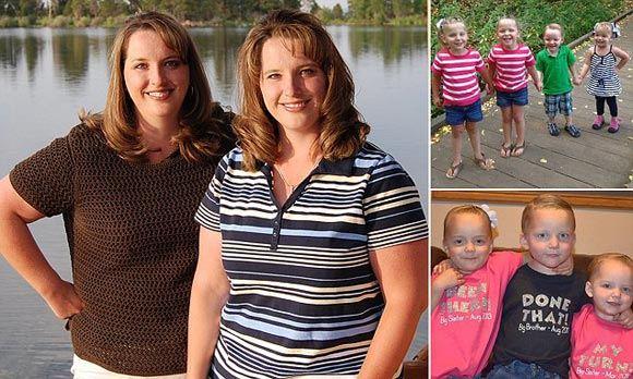 В США сестры-двойняшки родили по две пары близнецов