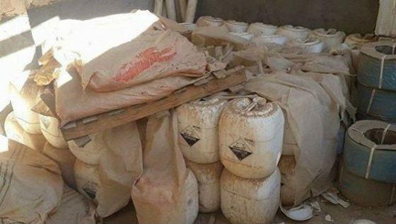 На бывшем складе ИГИЛ найдено химоружие