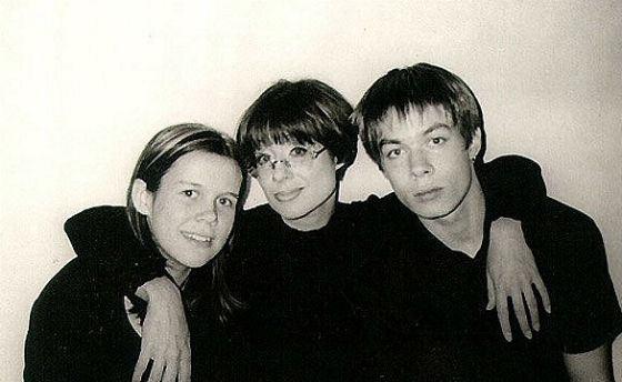 Молодой Стас Пьеха с мамой и сестрой