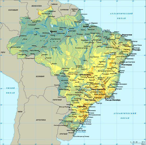 Бразилия на карте