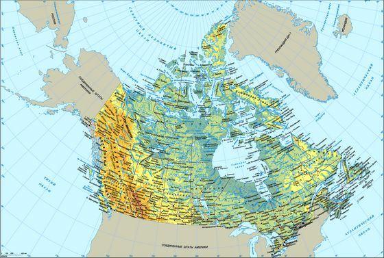 Так выглядит Канада на карте