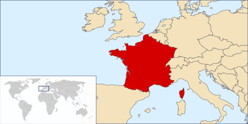 Франция - одна из самых больших по площади европейских стран