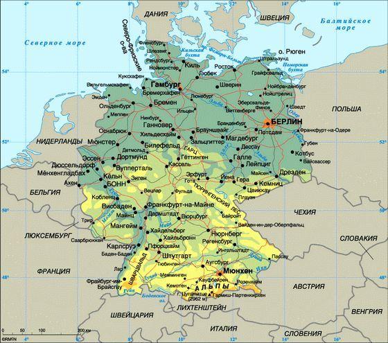 Германия занимает первое место по численности населения в Европе