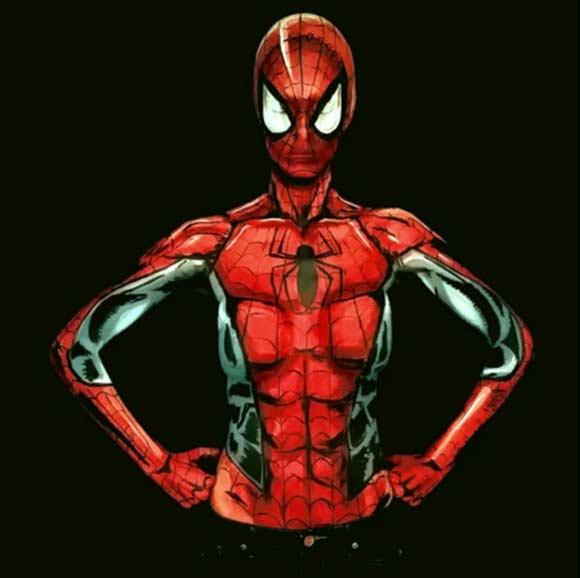 Кей Пайк в образе Человека-паука