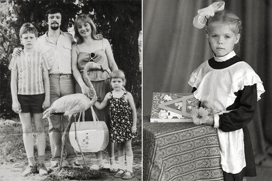 Anastasia Stotskaya in childhood