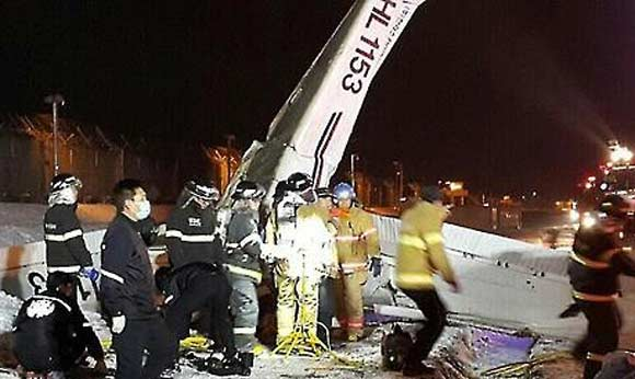 Легкомоторный самолет Cessna разбился в сеульском аэропорту