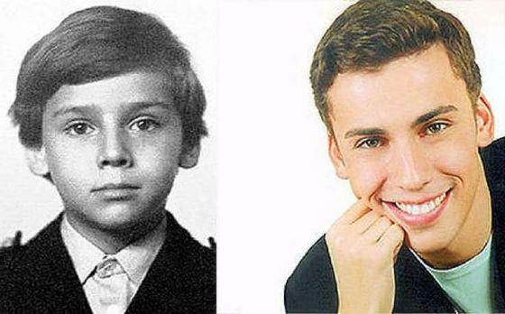 Максим Галкин в детстве и сейчас