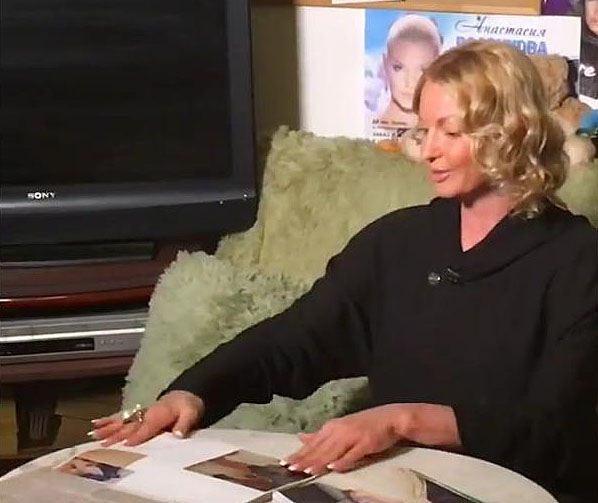 Анастасия на съемках на канале Россия 1