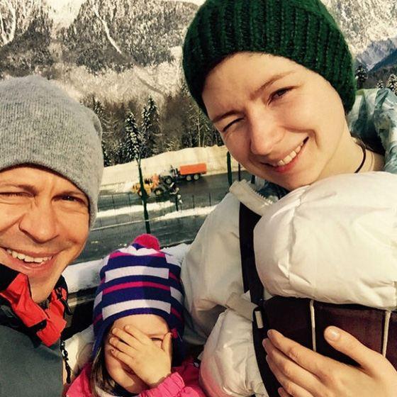 Павел с бывшей женой и детьми