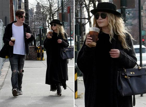 Mary-Kate Olsen and her boyfriend Nate Lowen