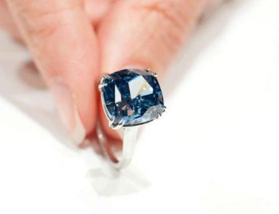 Blue Diamond Sotheby's Ring