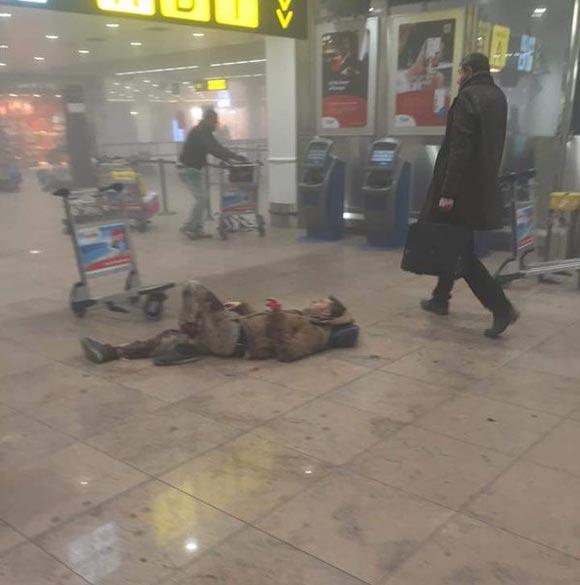 Фото с места взрывов в аэропорту Брюсселя