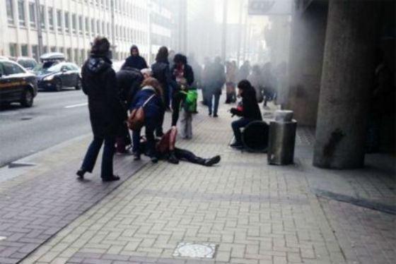 Новый взрыв в Брюсселе: фото с места происшествия