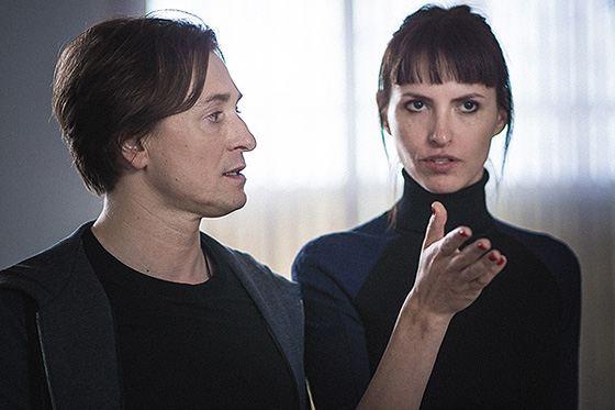 Сергей Безруков и Анна Матисон в работе над фильмом