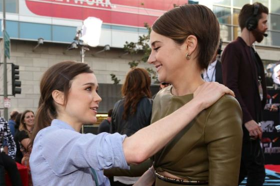 Shailene Woodley and Ellen Page
