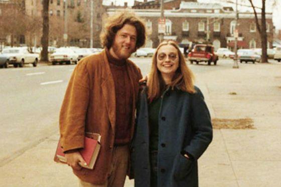 Билл и Хиллари Клинтон в молодости – 1971 год