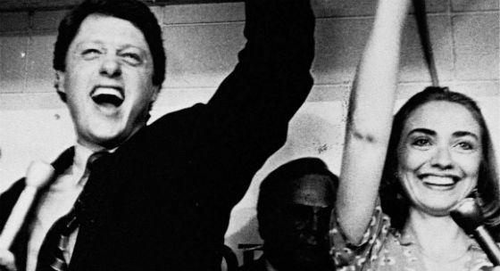Клинтоны празднуют победу на выборах губернатора штата