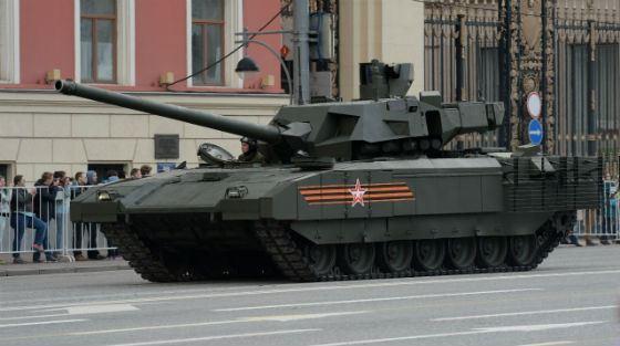 Т-14 на параде ко Дню победы в 2015 году
