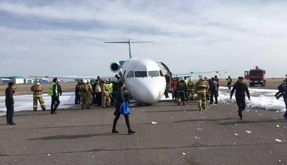 Причиной аварийной посадки самолета Bek Air стал технический дефект