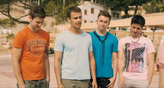 Theo James in the sitcom «The Inbetweeners»