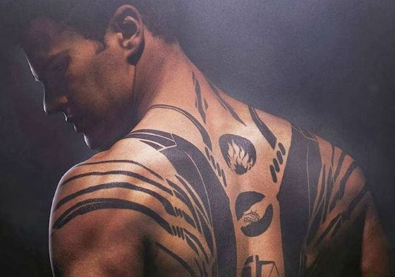 Theo James' tattoo in