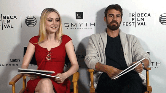 Theo James and Dakota Fanning – colleagues and friends