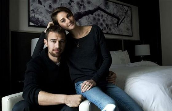 The «romance» of Theo James and Shailene Woodley remained within the set