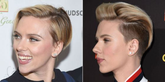 Scarlett Johansson saw the New Year 2016 with a new fashionable haircut