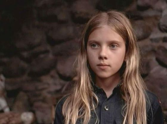 Scarlett Johansson in the childhood – one of her first roles