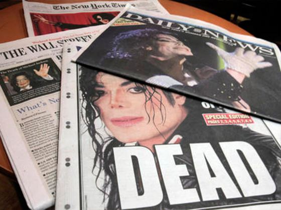 The first place in the ranking took the death of pop king Michael Jackson