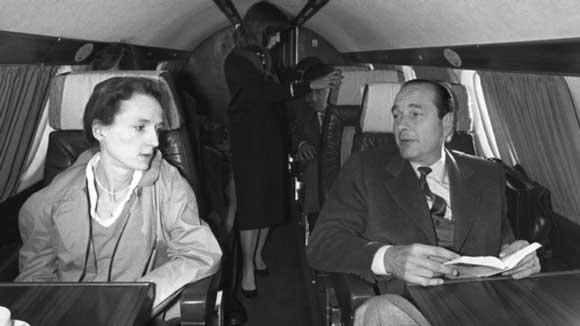 Жак Ширак со своей дочерью Лоранс, 1981 год