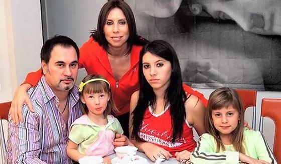 Валерий с женой Ириной и дочерьми