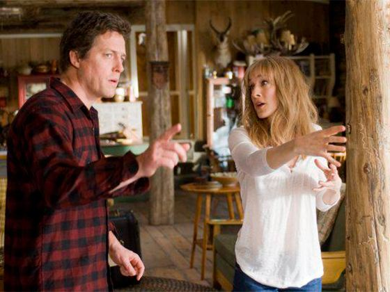 """Hugh Grant Sarah and Jessica Parker - stills from the movie """"Spouses Morgan on the Run"""""""