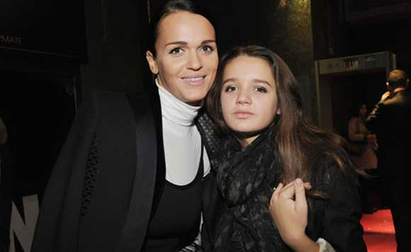 Slava's daughter now drinks with her mother