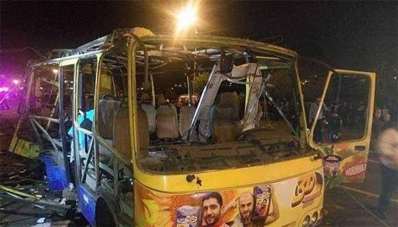 В Ереване взорвался пассажирский автобус