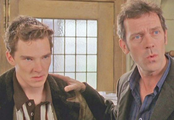 Young Benedict Cumberbatch played Hugh Laurie's son