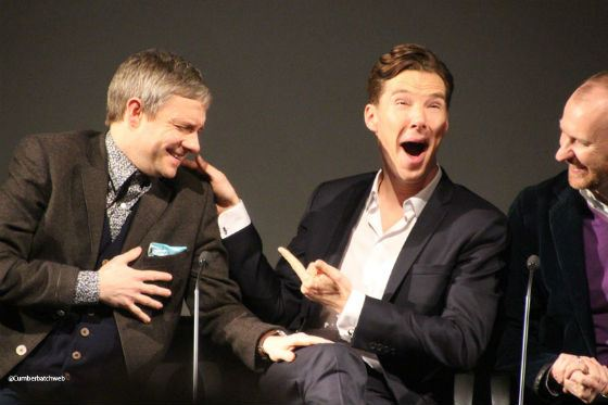 Cumberbatch and Freeman on the «Sherlock» audition
