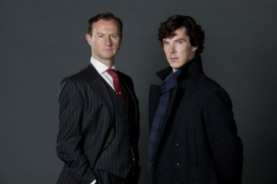 Benedict Cumberbatch with the film director of «Sherlock» Mark Gatiss