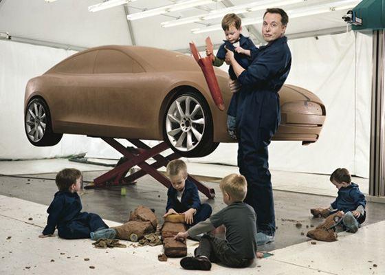 Элон Маск со своими сыновьями