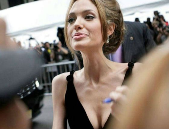 In 2016 Angelina Jolie shocked her fans with leanness