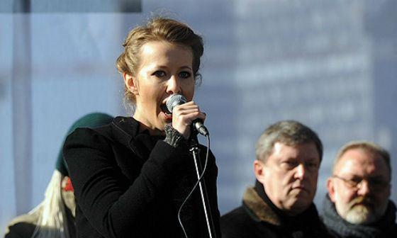Ксения Собчак на митинге «За честные выборы!»