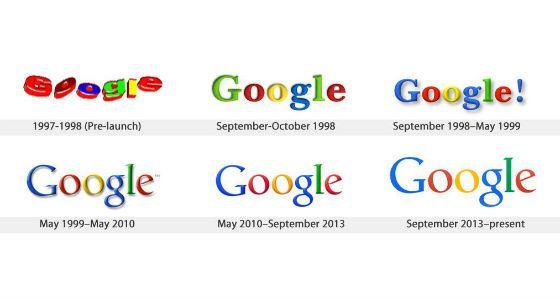 Эволюция логотипа Google