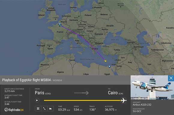 В ФСБ считают, что на борту самолета EgyptAir произошел теракт