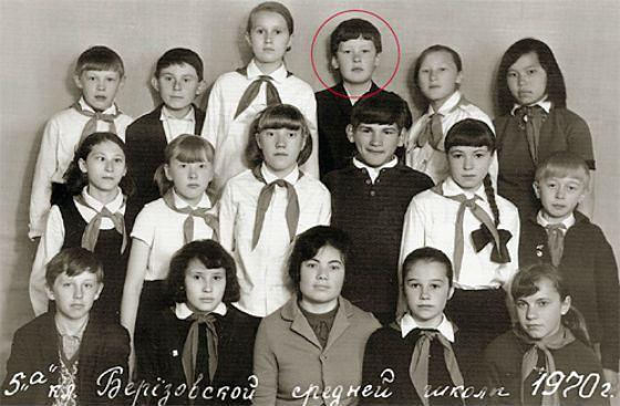 Школьное фото Сергея Собянина
