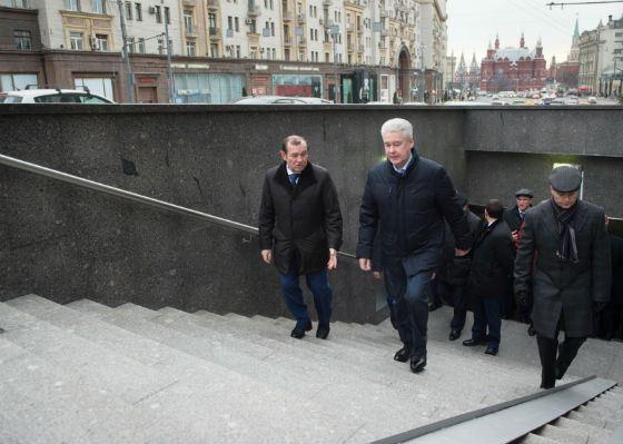 Сергей Собянин инспектирует подземные переходы